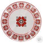 Набор посуды Уніпак Вишиванка бумажный одноразовый 6шт