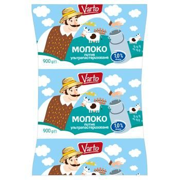 Молоко Varto 1% ультрапастеризованное 900г