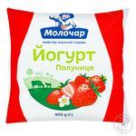 Йогурт Молочар полуниця 1% 400г