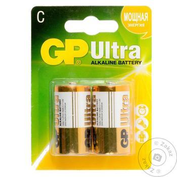 Батарейки GP ultra LR14 C 2шт - купить, цены на Таврия В - фото 1