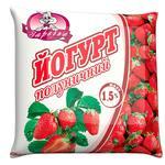 Йогурт Заріччя полуниця 1,5% 400г