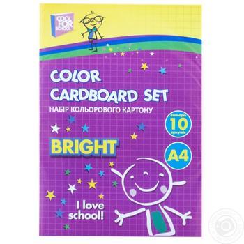 Картон Cool for school кольоровий 10 аркушів