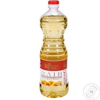 Масло подсолнечное Українська Зірка рафинированное 810мл - купить, цены на Таврия В - фото 1