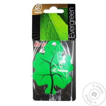 Paloma Gold Evergreen Paper Air Freshener
