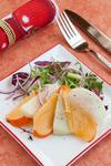 Салат из хурмы, яблок и лука