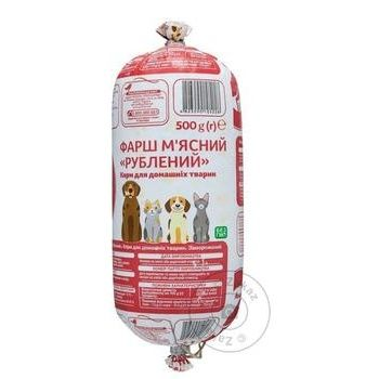 Auchan minced meat for pets 500g - buy, prices for Auchan - photo 1