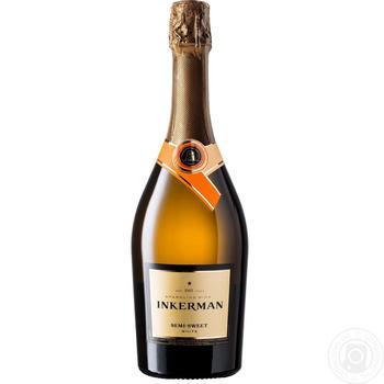 Вино игристое Inkerman белое полусладкое 10-13.5% 0,75л