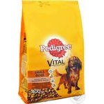 Pedigree for small dogs with poultry and vegetables dry food 400g