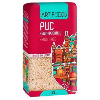 Рис Art Foods нешліфований довгозернистий 1кг - купити, ціни на МегаМаркет - фото 1