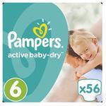 Подгузники Pampers Active Baby-Dry 6 Extra large 15+кг 56шт