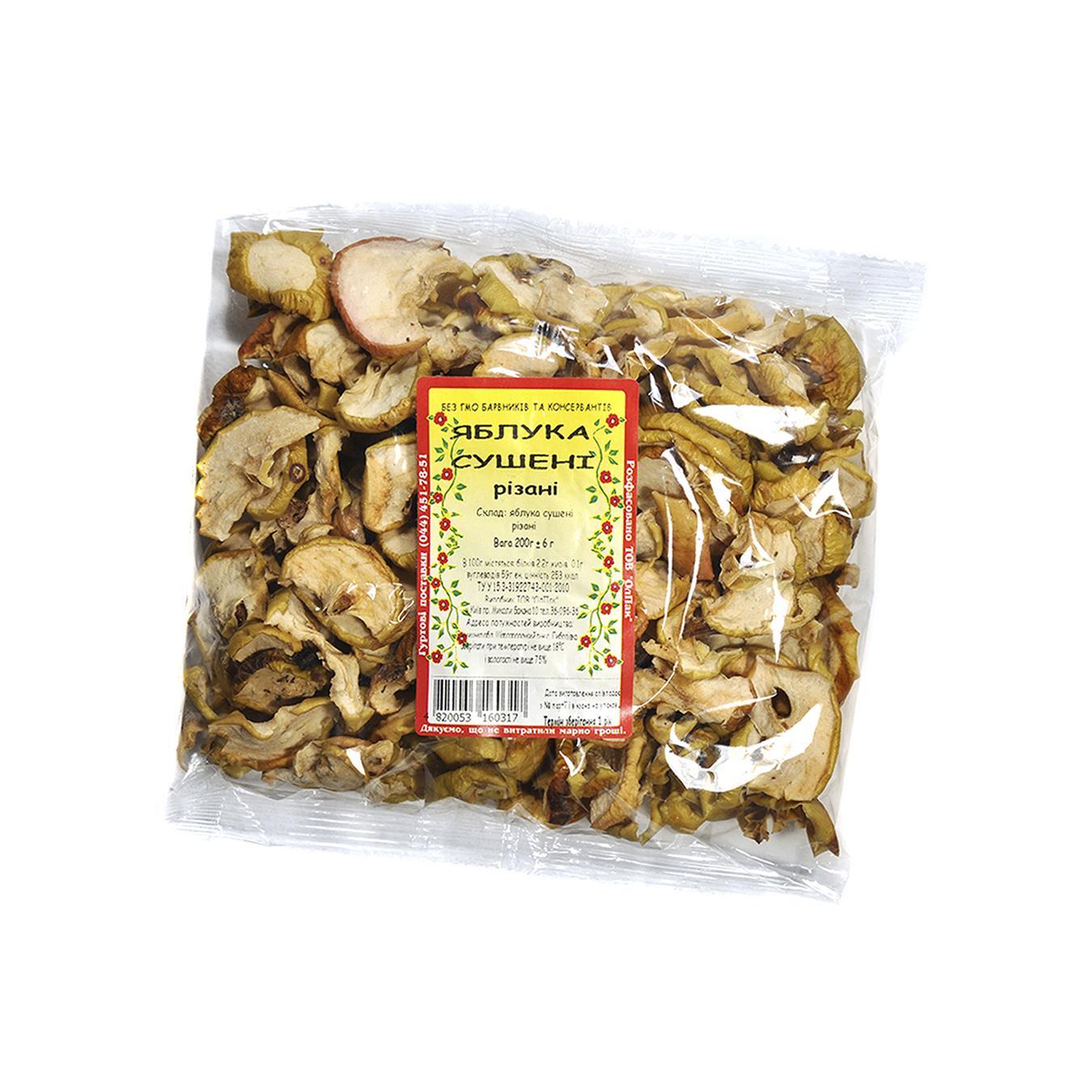 Купить 422, Яблоки сушеные резаные 200г, Олпак