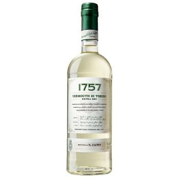 Вермут 1757 Vermouth di Torino Extra Dry білий сухий 18% 1л - купити, ціни на УльтраМаркет - фото 1