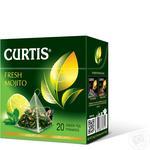 Чай зелений Curtis Fresh Mojito в пірамідках 20шт*1,7г
