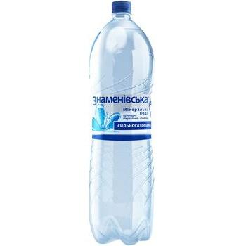 Минеральная вода Знаменовская природная лечебно-столовая газированная 2л