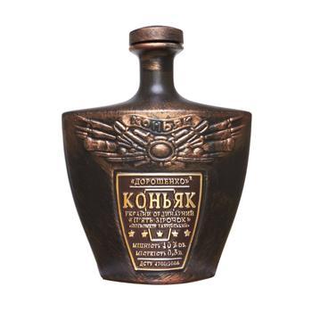 Коньяк Украины Дорошенко ординарный 5 звезд 40% 0.5л керамическая бутылка - купить, цены на Ашан - фото 2