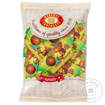 Конфеты Бисквит-шоколад глазированные ананасные 200г