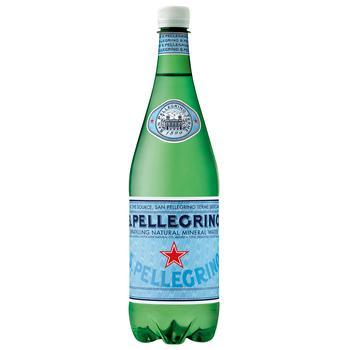 Вода минеральная San Pellegrino газированная 1л - купить, цены на Novus - фото 1
