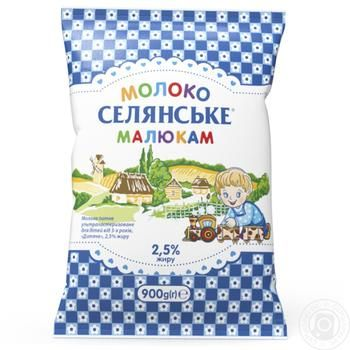 Selianske Baby Ultrapasteriuzed Milk 2,5% 900g - buy, prices for Furshet - image 1