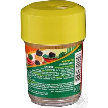Зубочистки Мелочи Жизни бамбуковые тонкие 250шт - купить, цены на Фуршет - фото 3