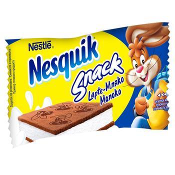 Тістечко бісквітне Nesquik з молочною начинкою 26г - купити, ціни на МегаМаркет - фото 1