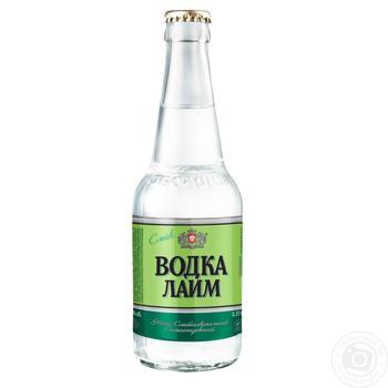 Напій Оболонь Водка Лайм слабоалкогольний сильногазований 0,33л скло - купити, ціни на Novus - фото 1