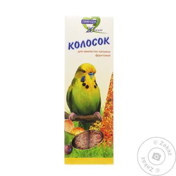 Колосок для волнистых попугайчиков Природа фруктовый 140г