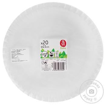 Тарелка Actuel обеденная 20шт*22см - купить, цены на Ашан - фото 1