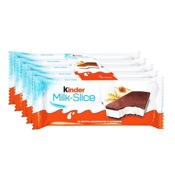 Тістечко Kinder Milk Slice бісквітне з молочною начинкою 5шт 28г - купити, ціни на ЕКО Маркет - фото 1