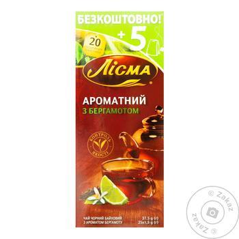 Чай черный Лисма Ароматный с бергамотом в пакетиках 25шт*1,5г