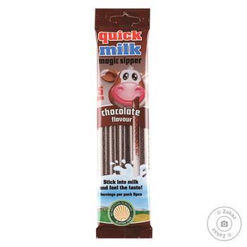 Трубочки Quick Milk для молока со вкусом шоколада 5шт - купить, цены на Восторг - фото 1