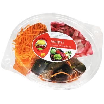 Салат Ноосфера-Агро Ассорти №2 морковь, капуста лепестками, баклажаны по-корейски 300г