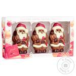 Фігурки шоколадні Hamlet Дід Мороз з молочного шоколаду 3шт 165г