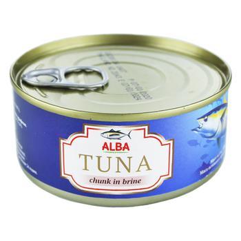 Alba Food Whole Tuna in Its Own Juice 150g