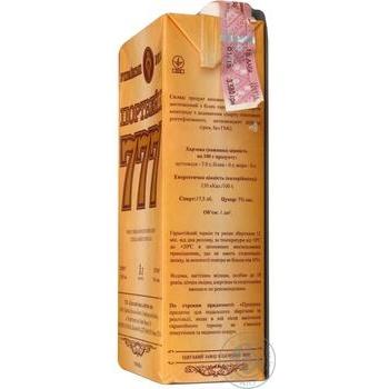 Вино белое Крымские Вина Портвейн 777 Белый ординарное крепкое 17.5% тетрапакет 1000мл Украина - купить, цены на Ашан - фото 6