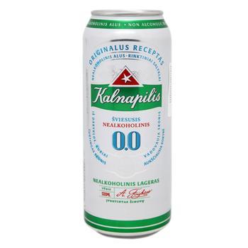 Пиво Калнапилис 0.0% безалкогольное светлое 0,5л - купить, цены на МегаМаркет - фото 1