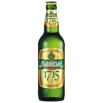 Beer Lvivske light 4% 500ml glass bottle Ukraine