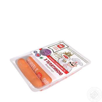 Сосиски Мясная гильдия Со сливками и с телятиной в/с - купить, цены на Novus - фото 1