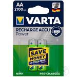 Varta Rechargeable battery AA NiMH 1.2V 2100mAh 2pcs