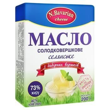 N.Bavarian Cheese Selyanske 73% Butter 200g