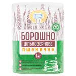 Борошно Рома пшеничне цільнозернове 1кг