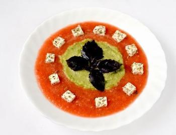 Овощной суп-смузи с брынзой