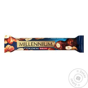 Шоколад молочный Millennium Golden Nut 40г опт*84шт