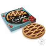 Pie Kharkov biscuit factory strawberries with cream shortbread 370g