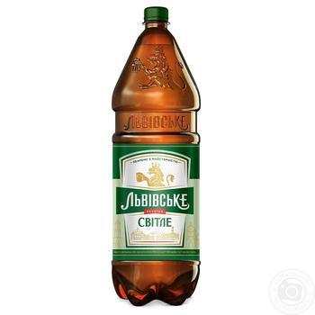 Пиво Львівське Світле пастеризоване 4.2% 2,4л - купити, ціни на Novus - фото 1