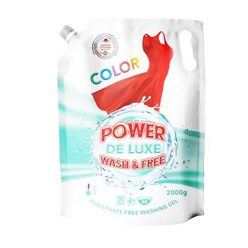 Гель для стирки Power De Luxe Color 2кг