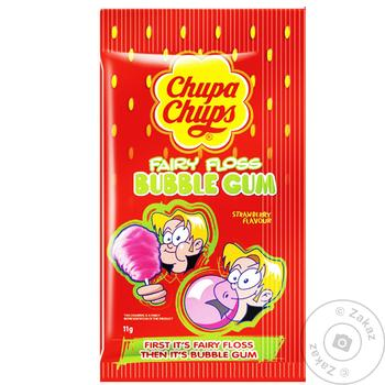Chewing gum Chupa chups strawberries with cream 11g - buy, prices for Tavria V - image 1
