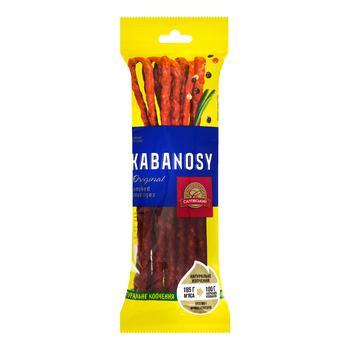 Saltivskyy myasokombinat Kabanosy Original Smoked Pork Sausages 100g