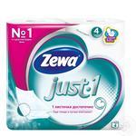 Туалетная бумага Zewa Just 1 четырёхслойная 4 рулона