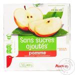 Фруктовое пюре Ашан с яблоком без сахара 100г