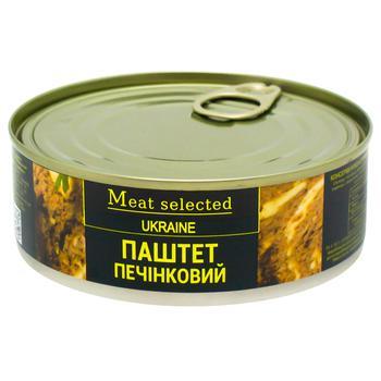 Паштет Meat Selected Классический печеночный 240г - купить, цены на СитиМаркет - фото 1
